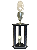 3 Post Blank Insert Trophy in 11 colors & 3 sizes
