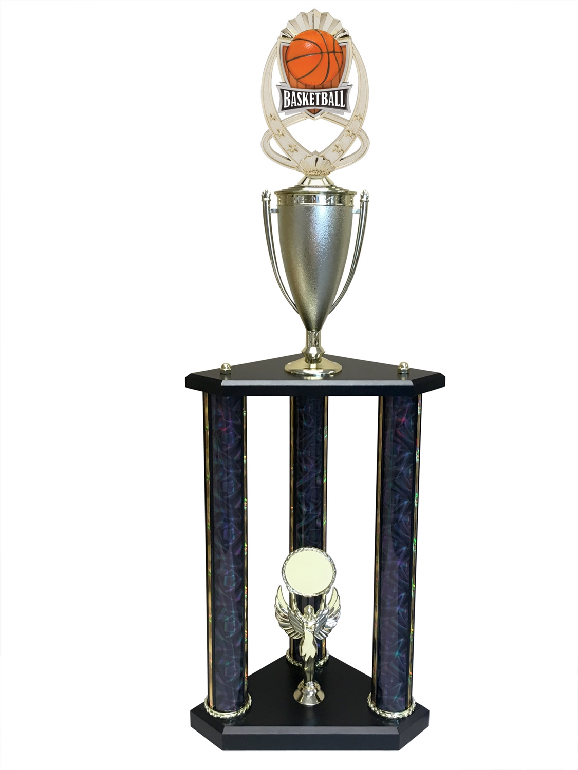 3 Post Basketball Trophy in 11 colors & 3 sizes