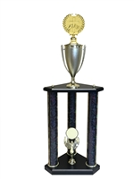 3 Post Religion Cross Trophy in 11 colors & 3 sizes