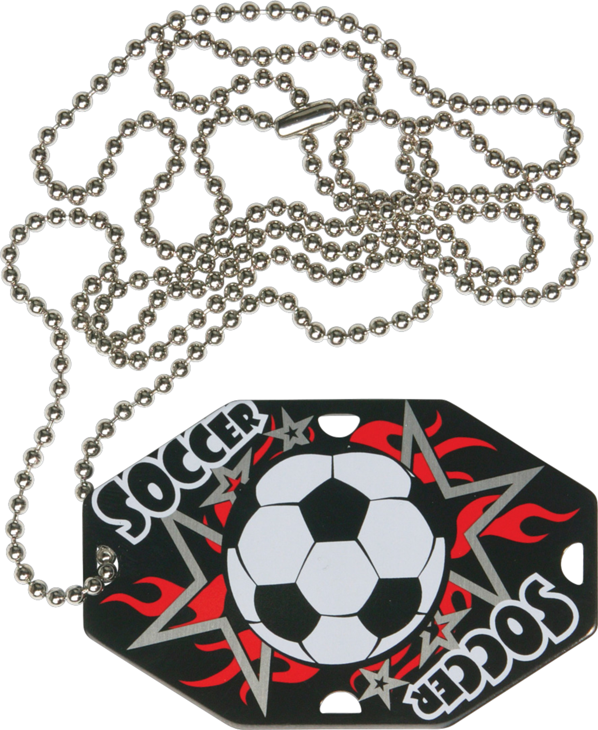 "2-1/2"" x 1-1/2"" Soccer Dog Tag w/Chain 41170-G"