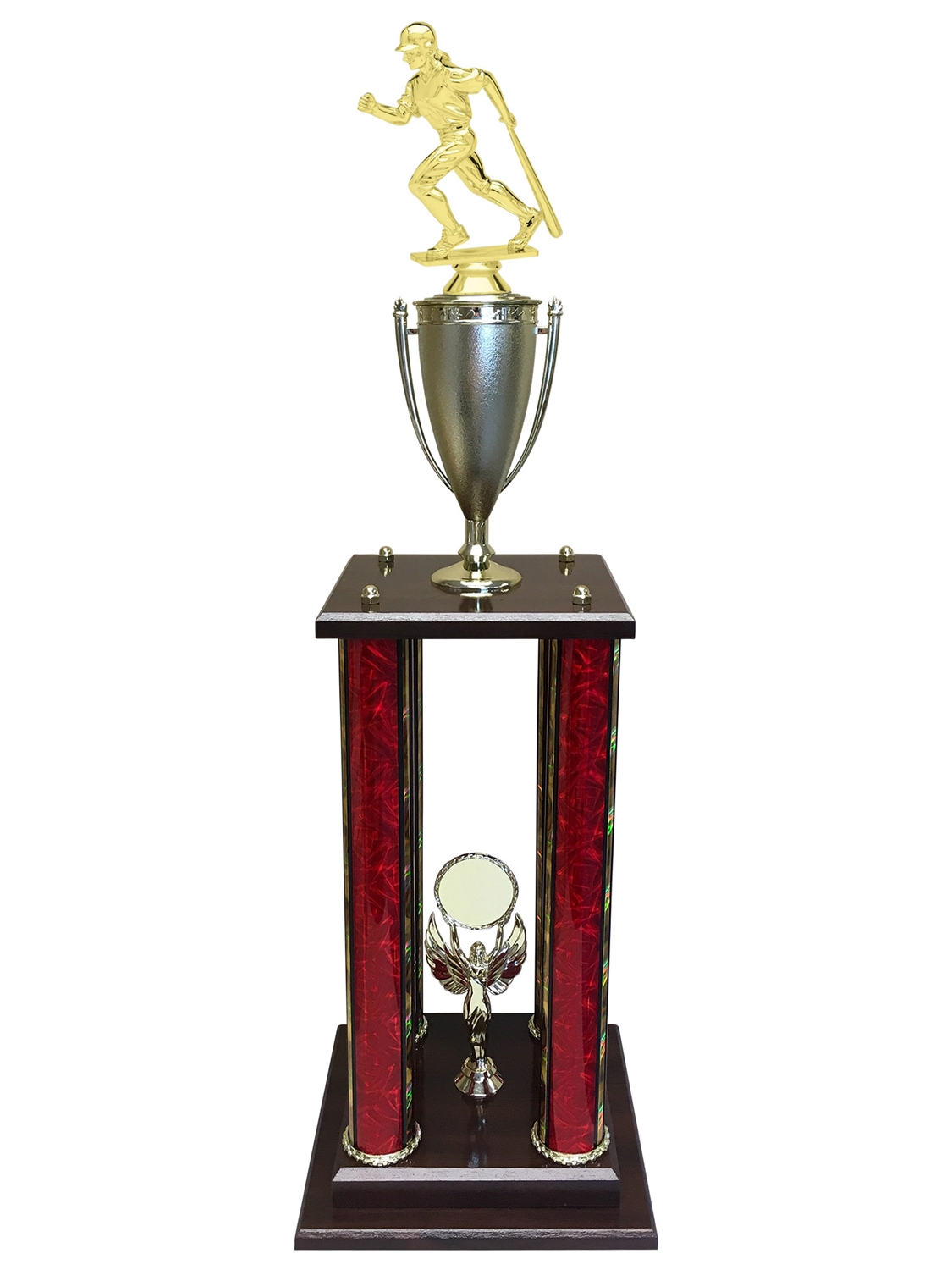 Female Baseball Trophy Available in 11 colors & 3 sizes