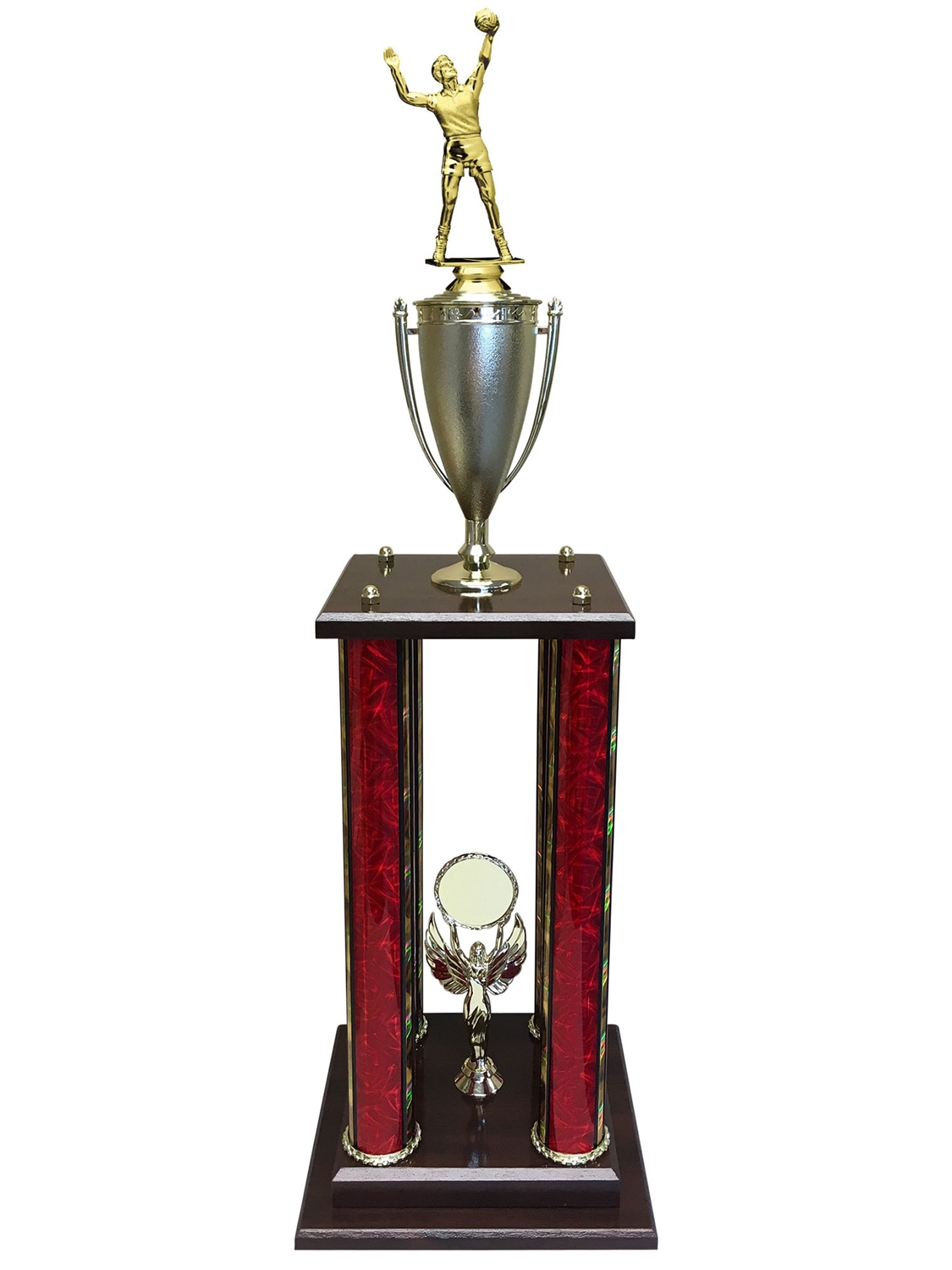Male Volleyball Trophy Available in 11 colors & 3 sizes