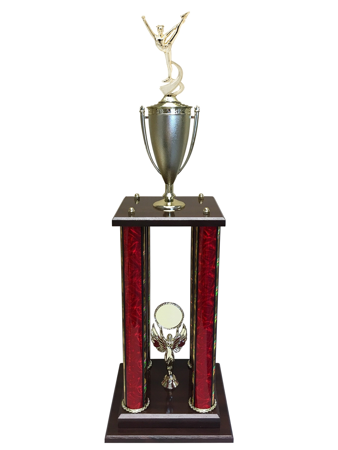 4 Post Dance Trophy in 11 colors & 3 sizes
