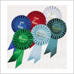 Choice of Small Rosette Ribbons 5RBS