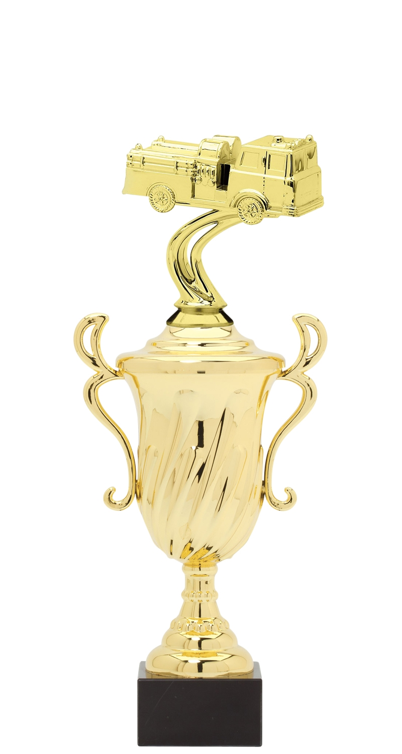 Firetruck Trophy Cup on synthetic base in (3 - Sizes)
