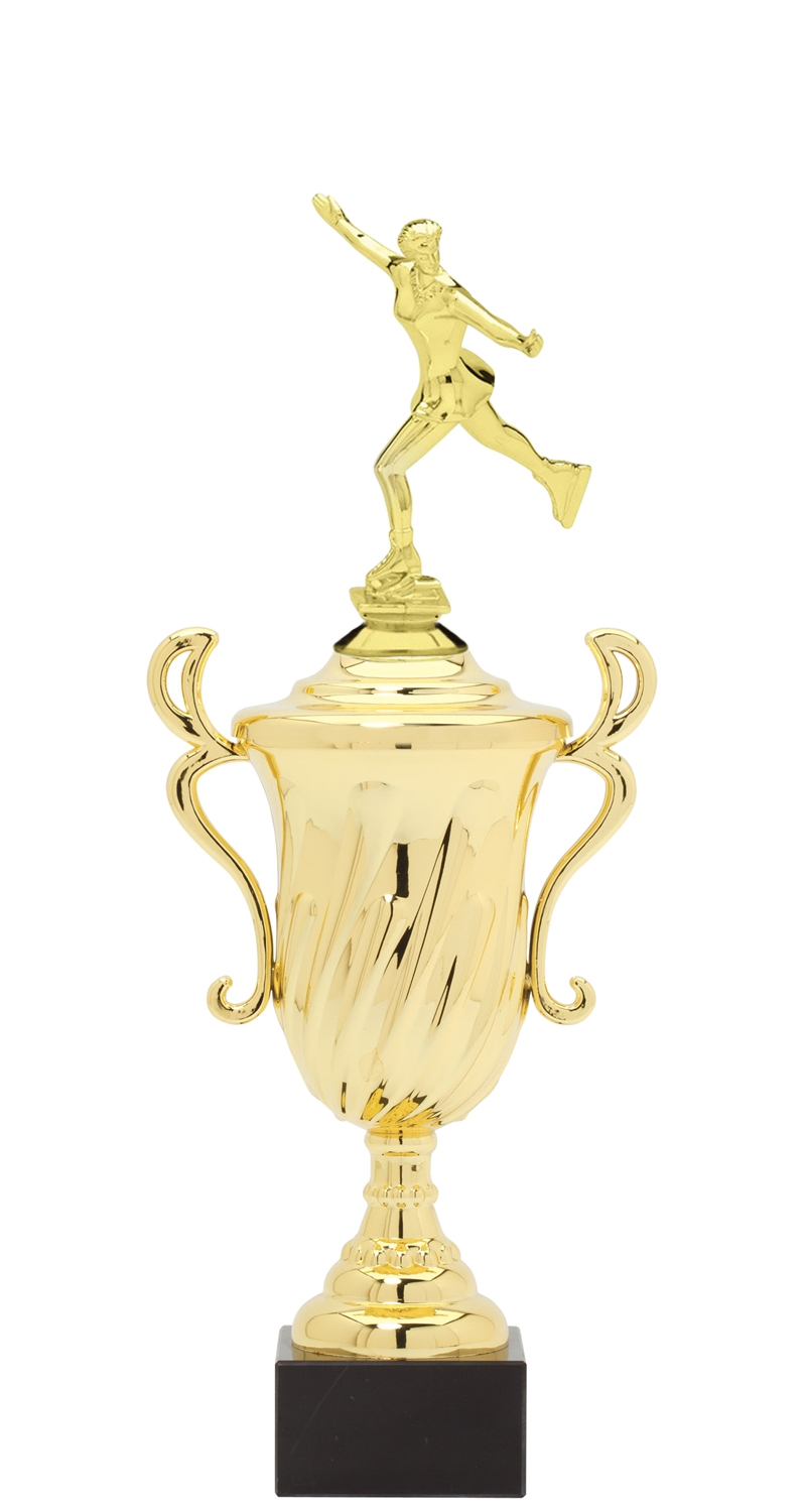 Female Ice Skating Plastic Loving Cup Trophy on Marble Base (3 - Sizes)