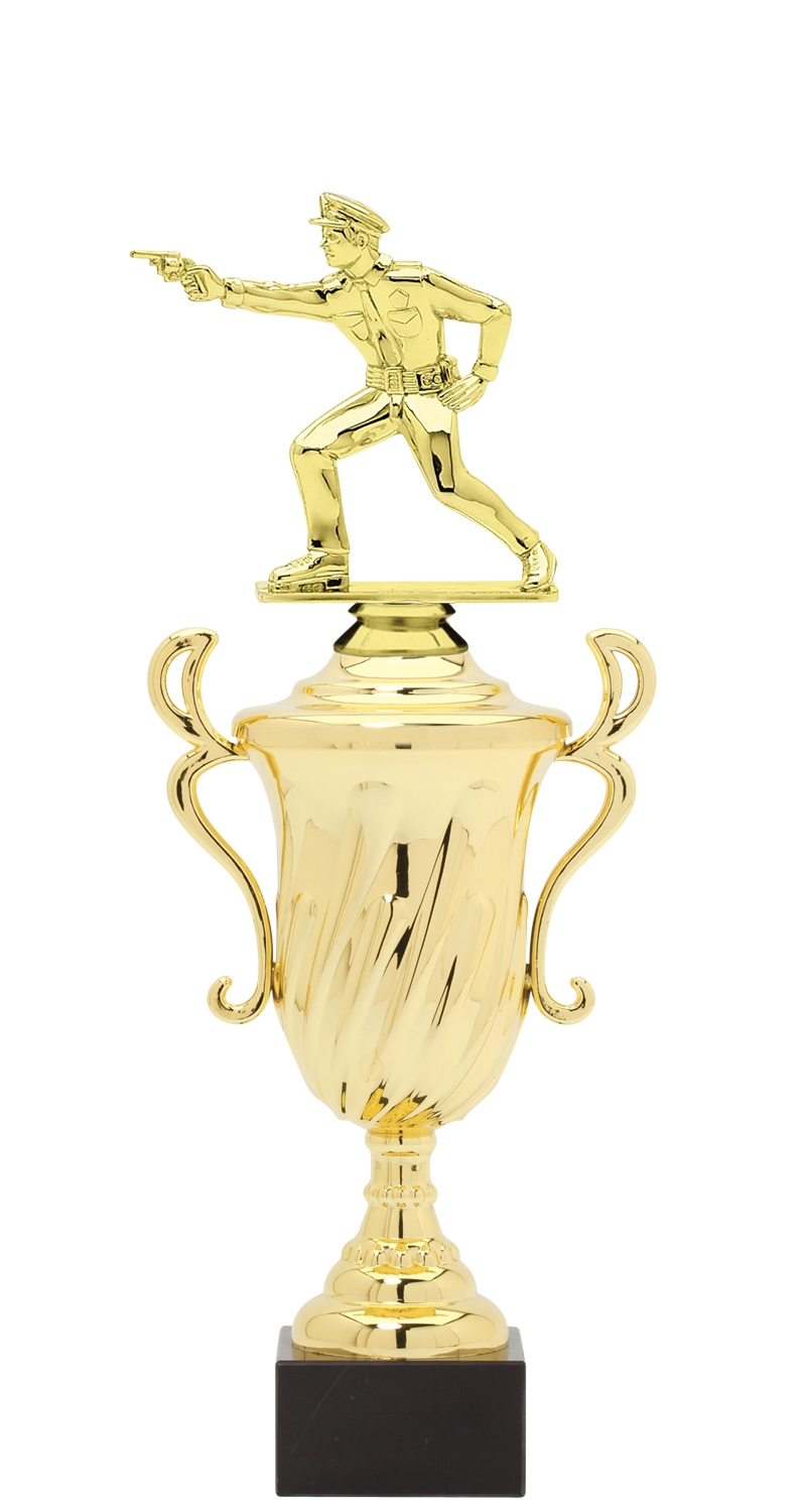 Policeman Trophy Cup on synthetic base in (3 - Sizes)