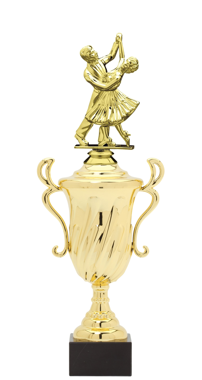 Dancing Couple Trophy Cup on synthetic base in (3 - Sizes)