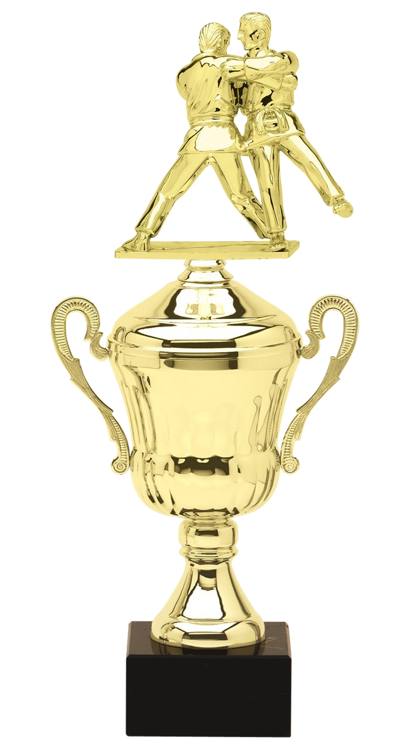 Metal Judo Trophy Cup on Marble Base in (3 - Sizes)