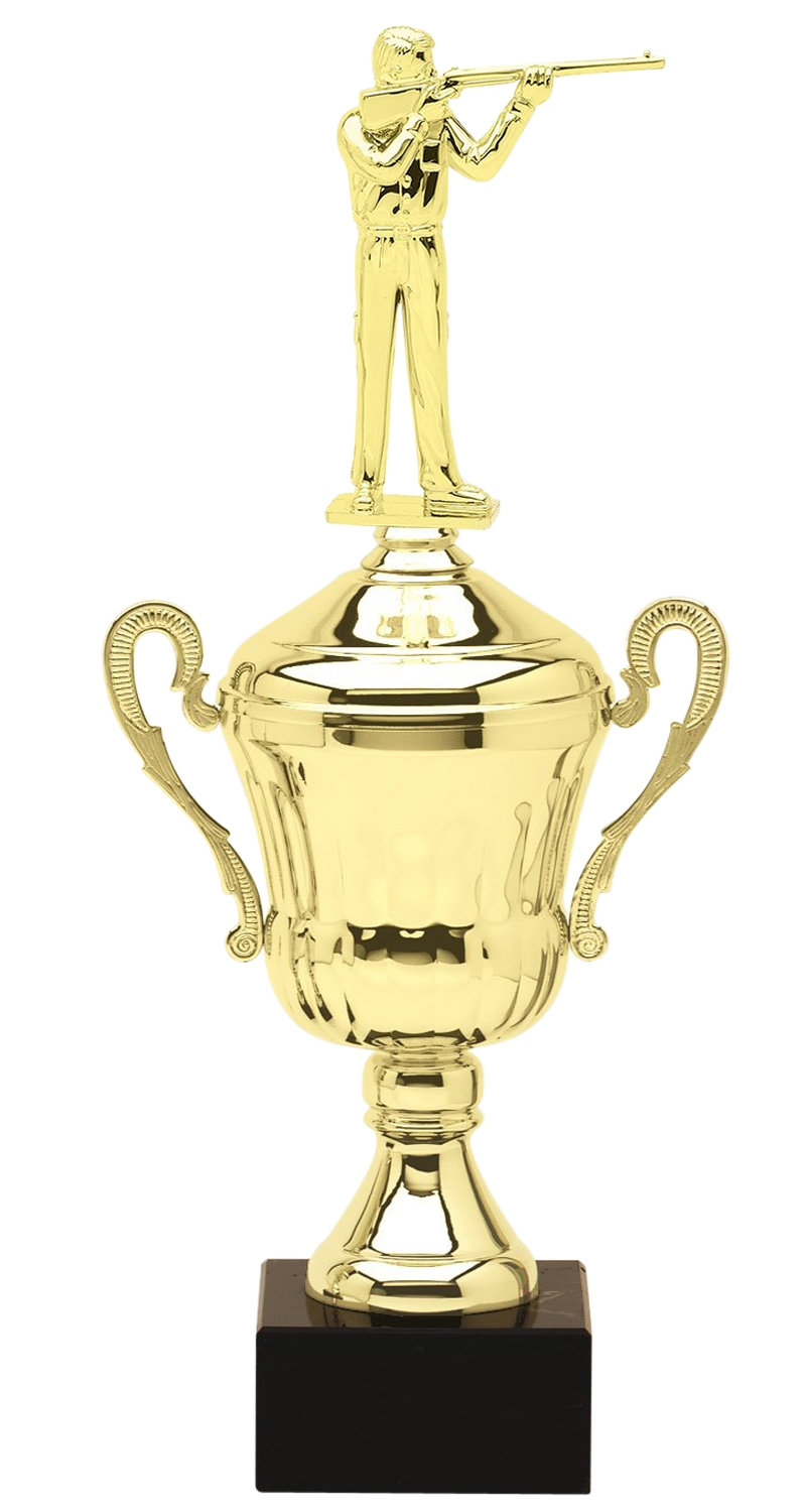 Metal Rifleman Trophy Cup on Marble Base in (3 - Sizes)