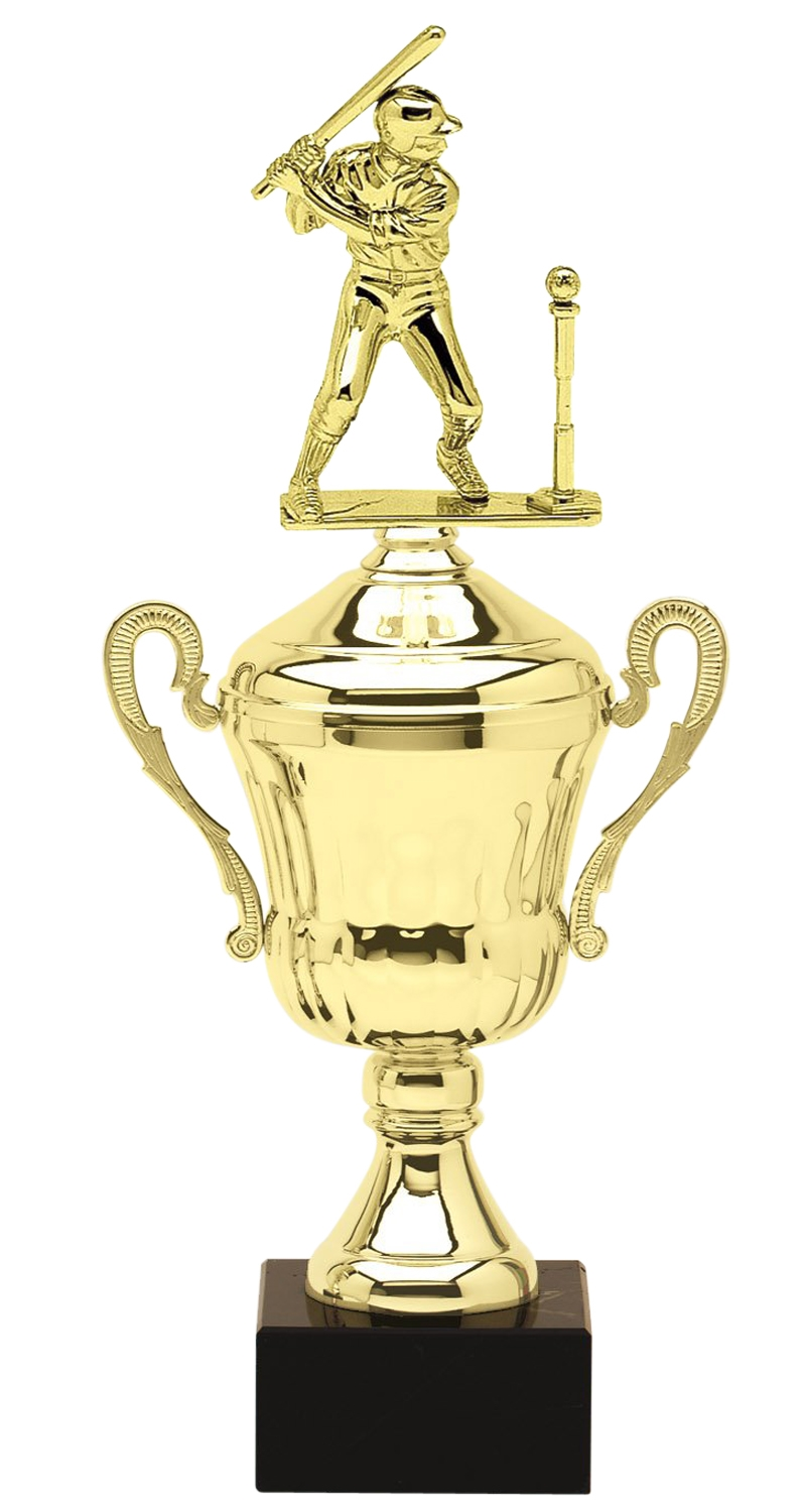 Metal Male T-Ball Trophy Cup on Marble Base in (3 - Sizes)