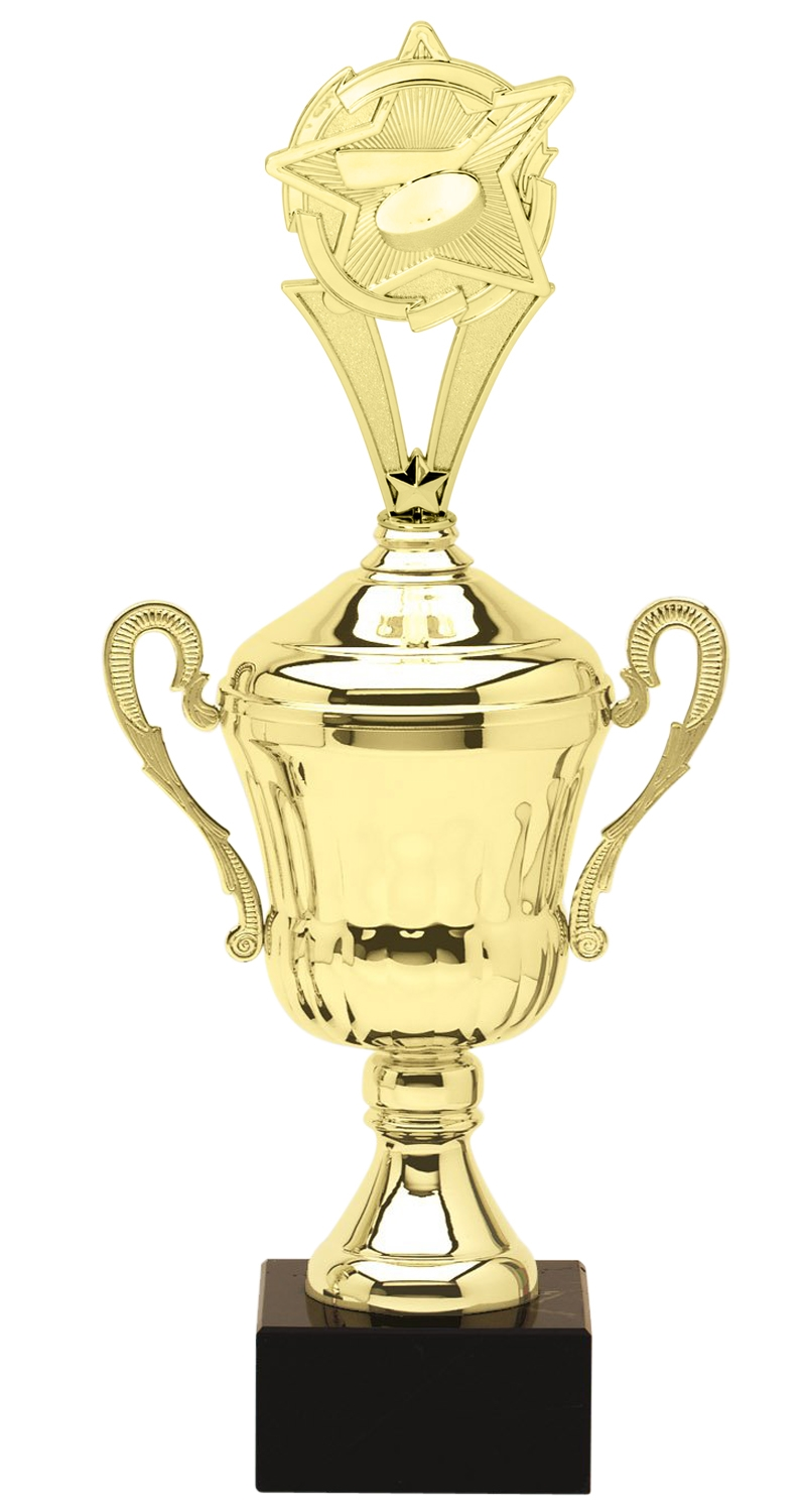 Metal Ice Hockey Trophy Cup on Marble Base in (3 - Sizes)