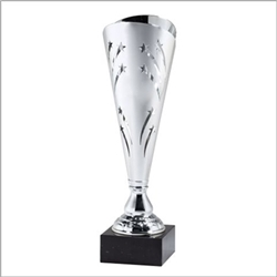 "15"" Silver Trophy Cup with Marble Base"