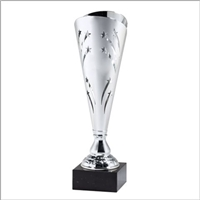 "13"" Silver Trophy Cup with Marble Base"