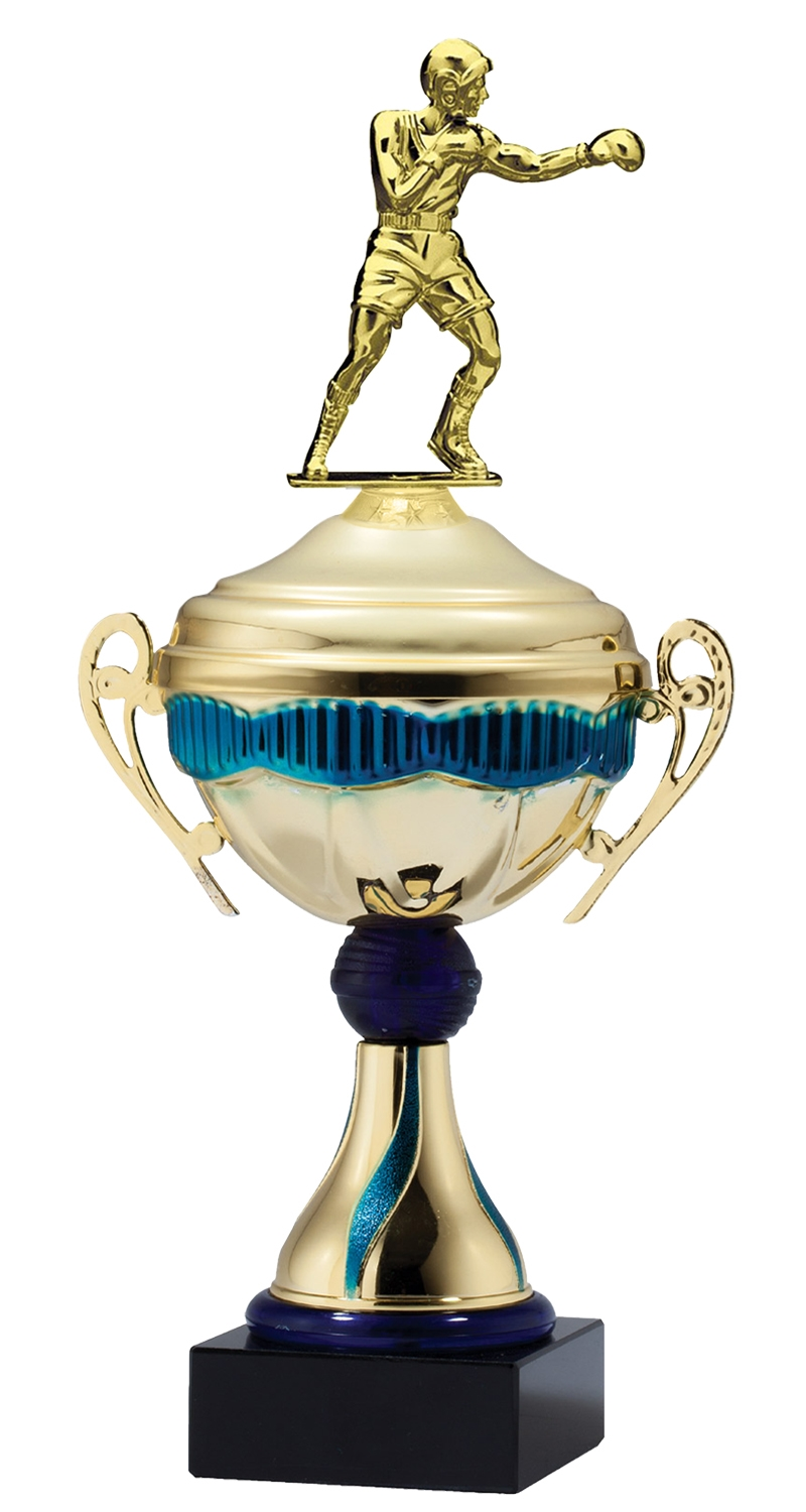 Metal Boxing Trophy Cup on Marble Base in (3 - Sizes)
