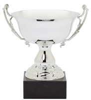 "13"" Large Silver Trophy Cup with Marble Base"