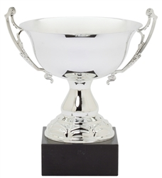 "11"" Large Silver Trophy Cup with Marble Base"