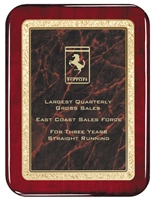 7 x 9 Classic Series Rosewood Plaque 4 Colors