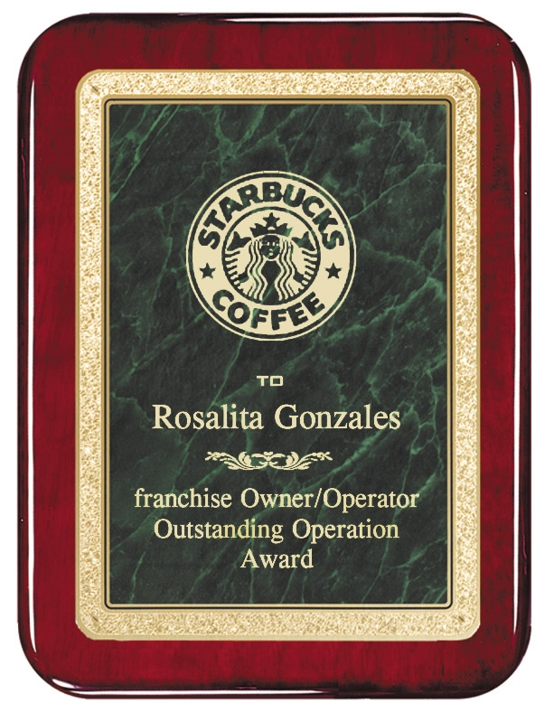 8 x 10 Classic Series Rosewood Plaque 4 Colors