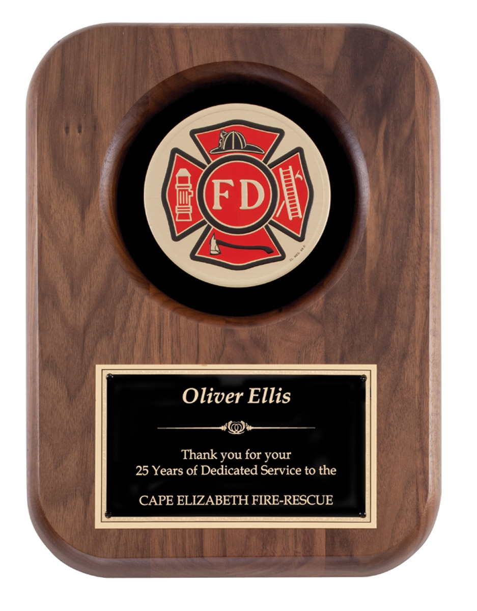 Fire Department Plaque 9x12 American Tribute