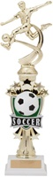 "14"" All Star Riser Male Soccer Trophy"