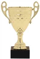 "10"" Gold Trophy Cup with Marble Base"