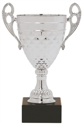 "11"" Silver Trophy Cup with Marble Base"
