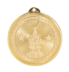 "2"" BriteLazer Series All Star Cheerleading Medal BL206"