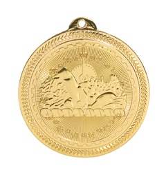 "2"" BriteLazer Series Swimming Medal BL216"