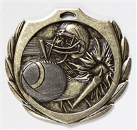 "2-1/4"" BM Series Football Medal BMD06"