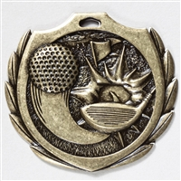 "2-1/4"" BM Series Golf Medal BMD07"