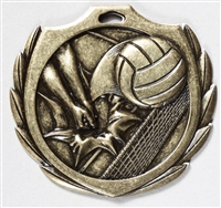 "2-1/4"" BM Series Volleyball Medal BMD17"