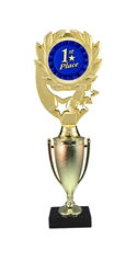 "12"" Cup Column Wreath Full Color 1st Place Trophy"