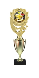 "12"" Cup Column Wreath Full Color Perfect Attendance Trophy"