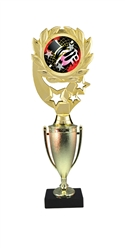 "12"" Cup Column Wreath Full Color Dance Trophy"