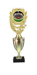"12"" Cup Column Wreath Full Color Fantasy Football Trophy"