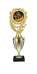 "12"" Cup Column Wreath Full Color Supercross Trophy"