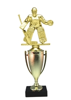 Cup Column Female Hockey Goalie Trophy