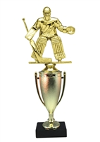 Cup Column Male Hockey Goalie Trophy