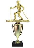 Cup Column Cross Country Ski Trophy