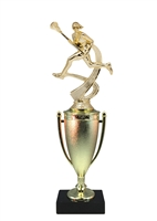 Cup Column Female Lacrosse Trophy
