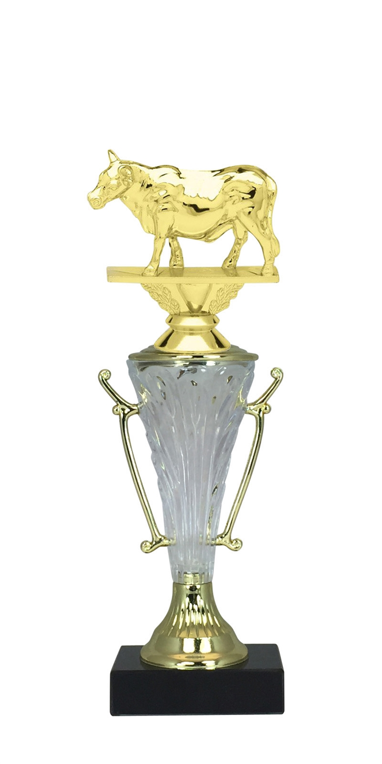 Steer Trophy Cup on Marble Base in (2 - Sizes)