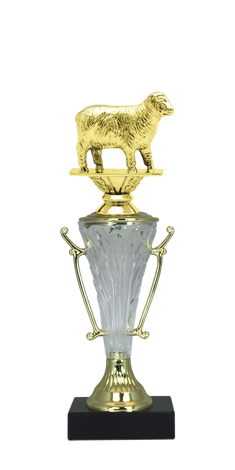 Sheep Trophy Cup on Marble Base in (2 - Sizes)