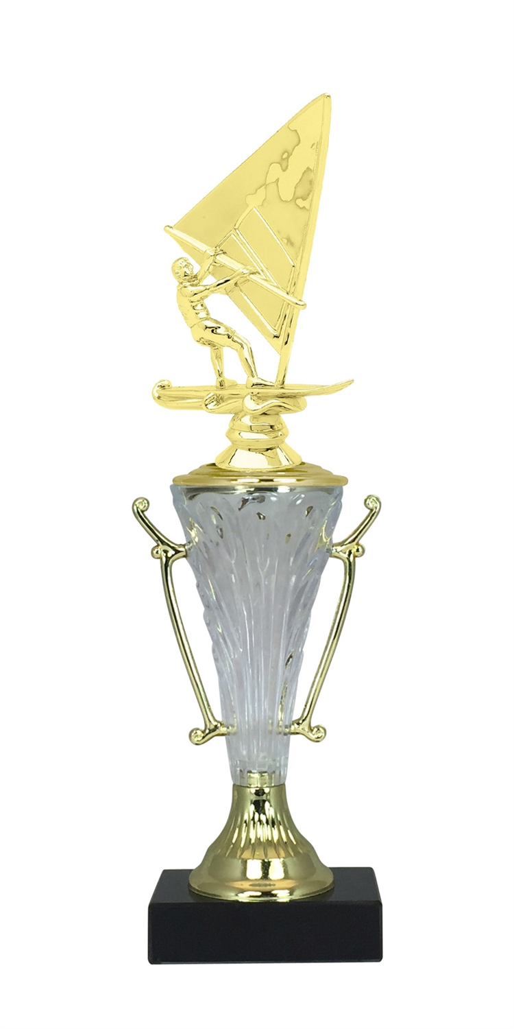 Windsurfing Trophy Cup on Marble Base in (2 - Sizes)