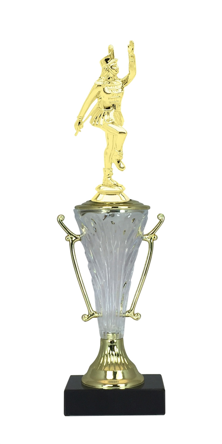 Majorette Trophy Cup on Marble Base in (2 - Sizes)