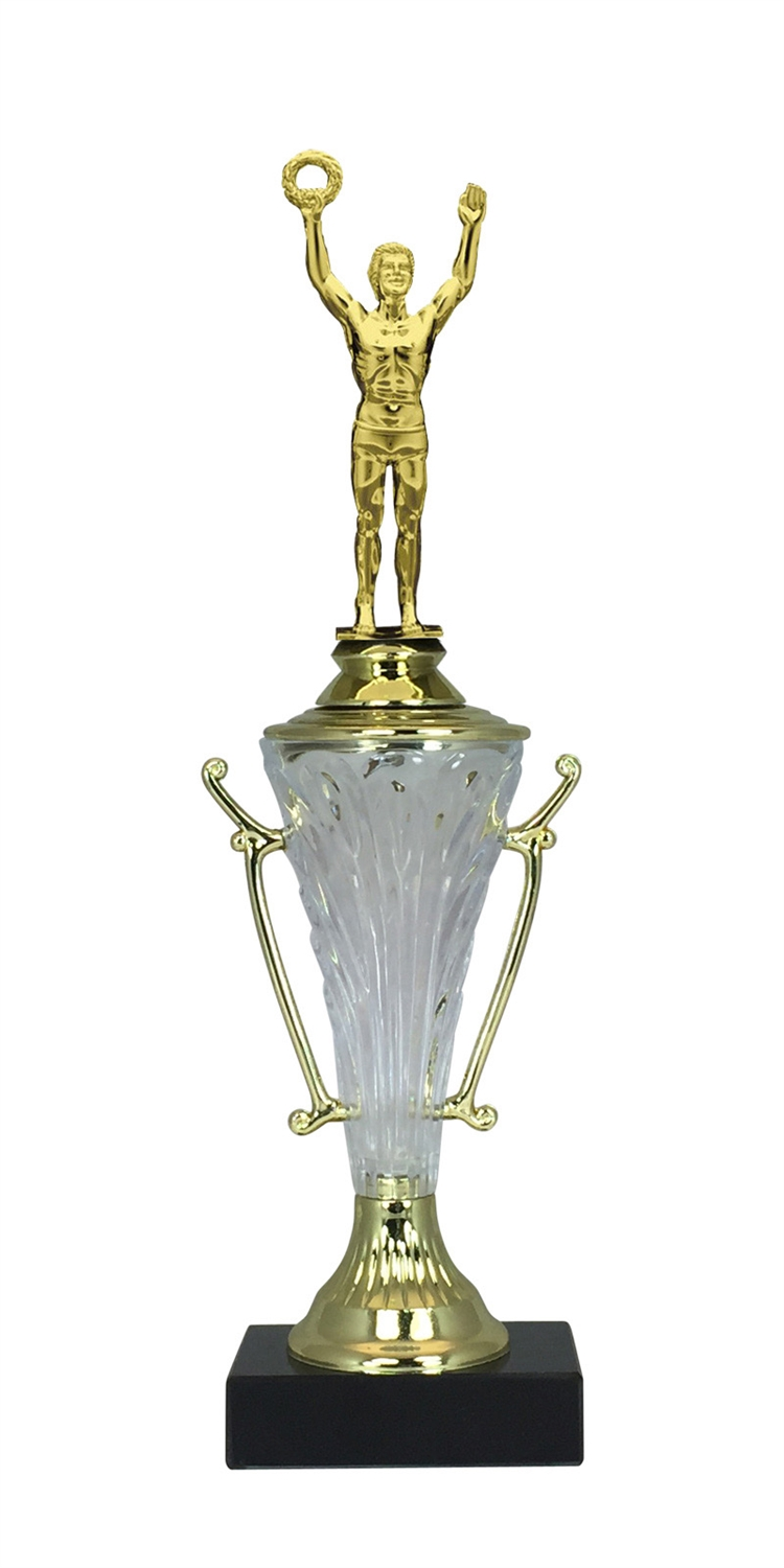 Male Victory Trophy Cup on Marble Base in (2 - Sizes)