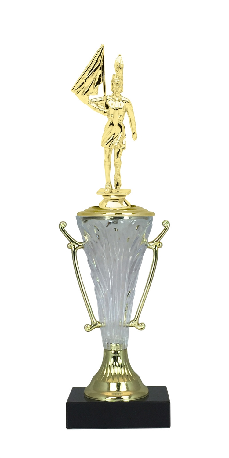 Female Marching Band Trophy Cup on Marble Base in (2 - Sizes)