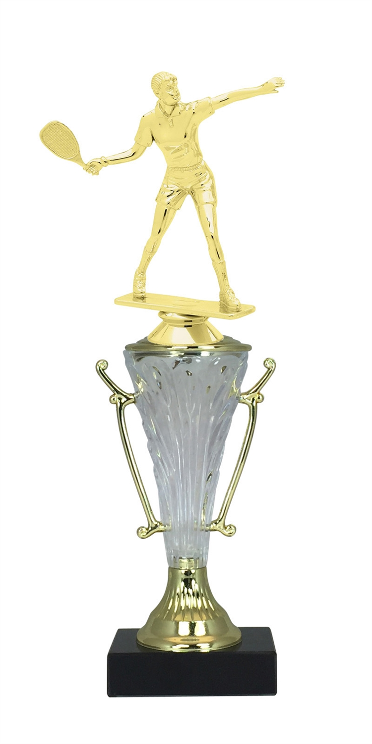 Female Racquetball Trophy Cup on Marble Base in (2 - Sizes)