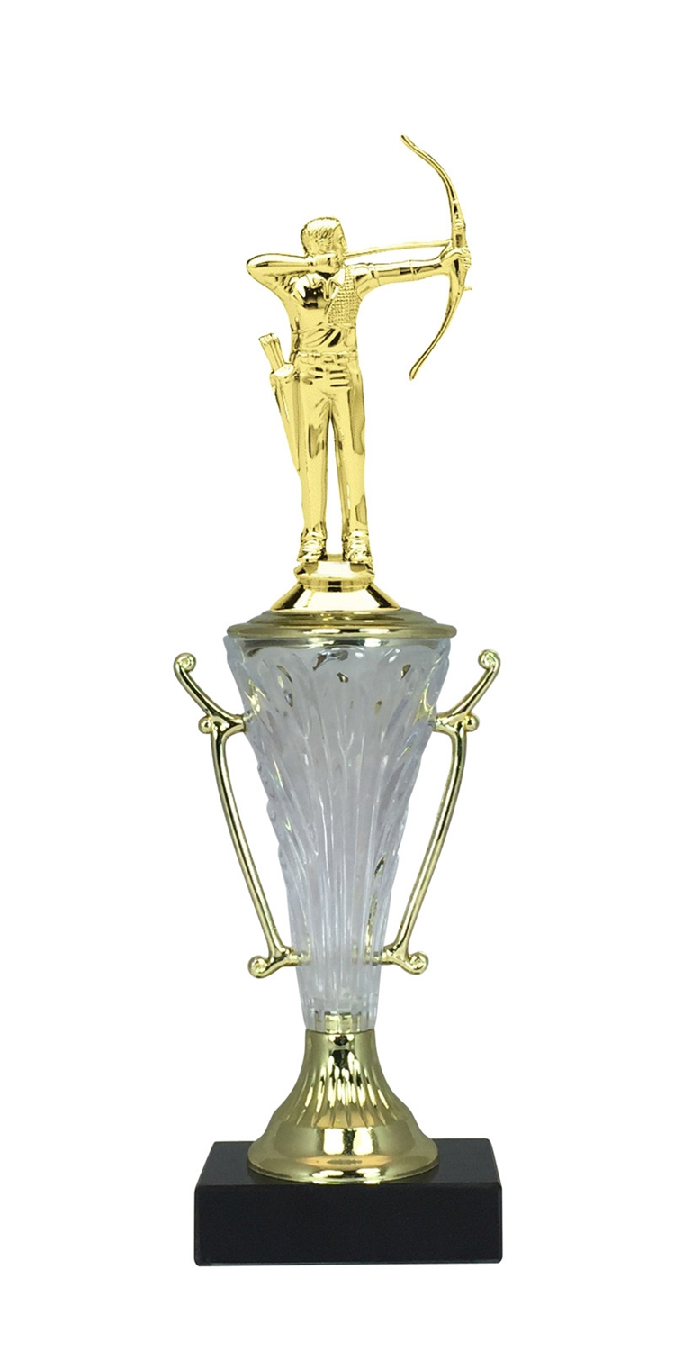 Male Archer Trophy Cup on Marble Base in (2 - Sizes)