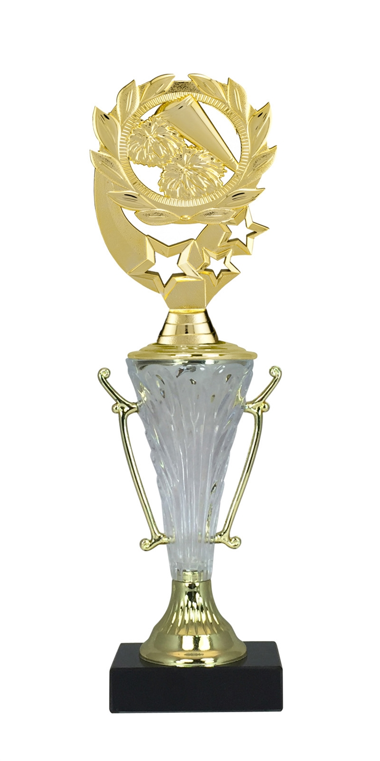 Cheerleading Trophy Cup on Marble Base in (2 - Sizes)